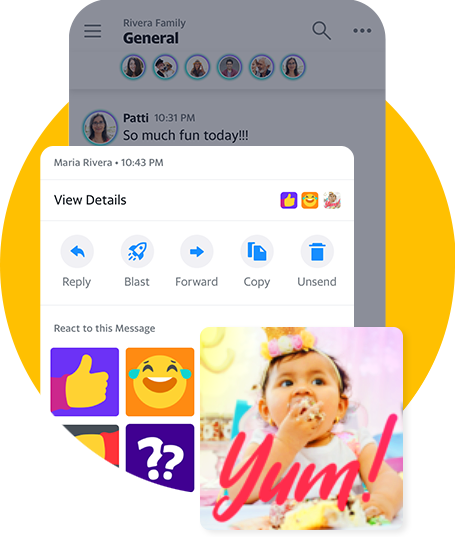 Yahoo Together Emojis, Gifs, Selfies erstellen